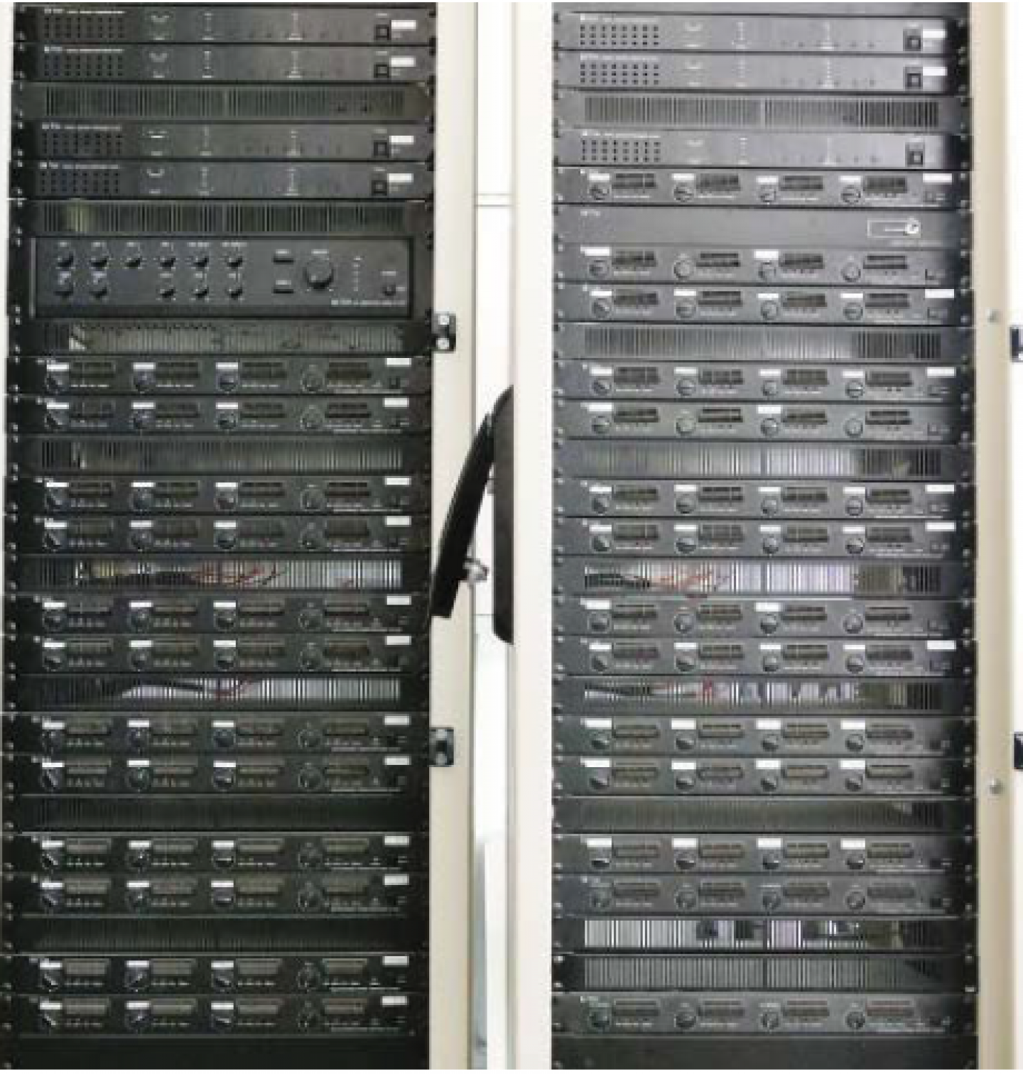 27 TOA DA-250F amplifiers in use